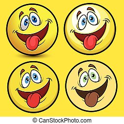 gekke , tong, smiley, uit