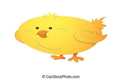 gekke , vector, vogel, illustratie