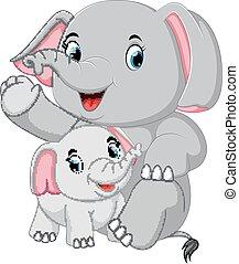 gekke , weinig; niet zo(veel), spelend, elefant