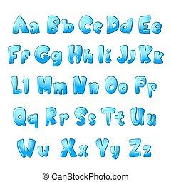 gekke , witte , brieven, alfabet