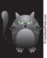 gekke , zwarte kat