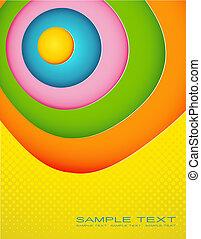 gekleurde, abstract, text., illustratie, plek, jouw