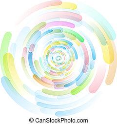 gekleurde, cirkels