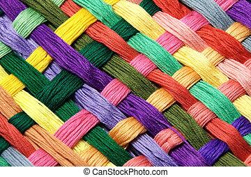 gekleurde, garen, floss