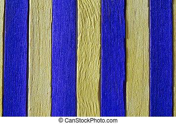 gekleurde, houten raad