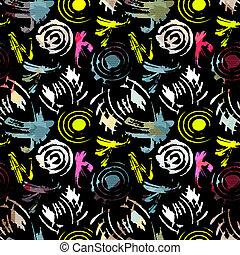 gekleurde, model, abstract, seamless, illustratie, style., graffiti, ontwerp, kwaliteit, jouw