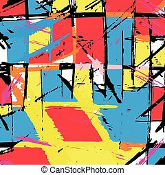 gekleurde, model, illustratie, vector, graffiti, psychedelic