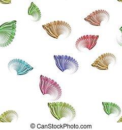 gekleurde pastelkleur, model, seamless, witte , fractal, vleugels