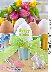 gekochte eier, für, ostern