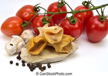 gekookt, rapana, (veined, rapa, whelk), vlees