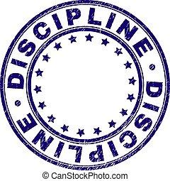 gekraste, discipline, postzegel, zeehondje, textured, ronde