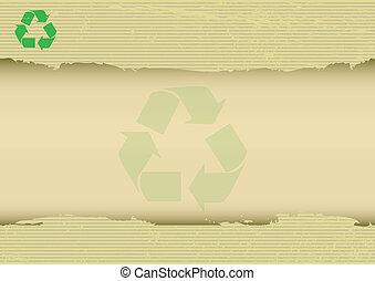 gekraste, horizontaal, recyclabe, achtergrond