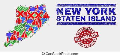 gekraste, kaart, nee, postzegel, eiland, symbool, staten,...