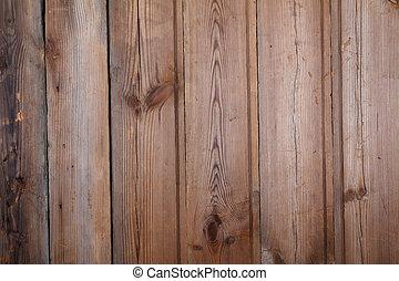 gekraste, oud, van hout top, achtergrond, tafel, aanzicht