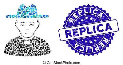 gekraste, pictogram, reproductie, katholiek, collage,...