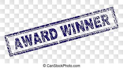 gekraste, postzegel, winnaar, toewijzen, rechthoek