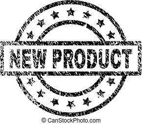 gekraste, product, postzegel, textured, zeehondje, nieuw