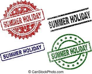 gekraste, textured, zomer vakantie, zeehondje, postzegels