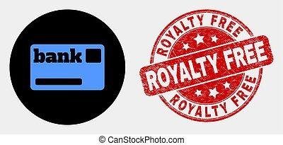gekraste, vector, watermark, kosteloos, royalty, kaart,...