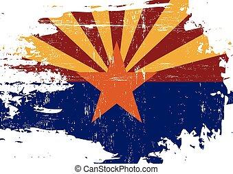 gekraste, vlag, arizona