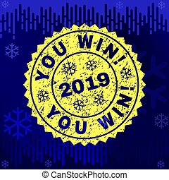 gekraste, winter, postzegel, achtergrond, zeehondje, u, win!
