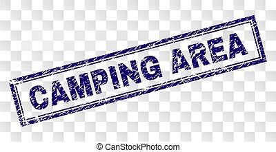 gekratzt, briefmarke, camping, rechteck, bereich