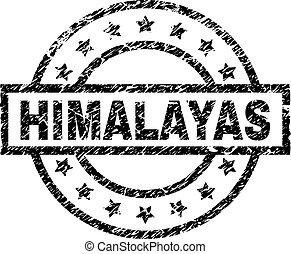 gekratzt, briefmarke, himalayas, textured, siegel