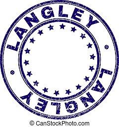 gekratzt, briefmarke, textured, langley, siegel, runder