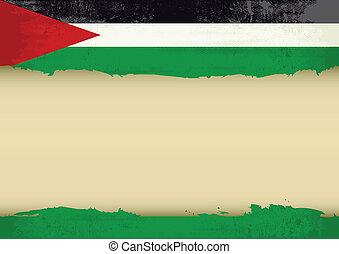 gekratzt, fahne, palästinensisch