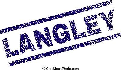 gekratzt, langley, textured, briefmarke, siegel