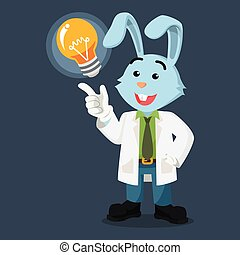 gekregen, professor, idee, konijn