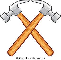 gekreuzt, hammer