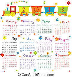gekritzel, kalender, 2013