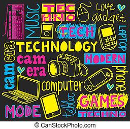 gekritzel, technologie