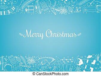 gekritzel, weihnachten, hintergrund