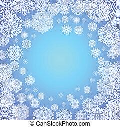 gelée, sur, les, fenêtre, vecteur