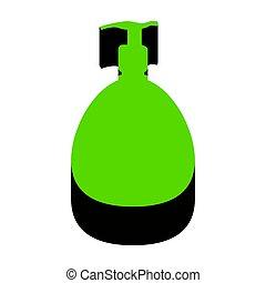 Gel, Foam Or Liquid Soap. Dispenser Pump Plastic Bottle silhouet