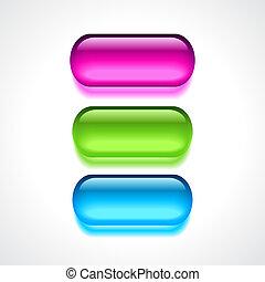 Gel neon buttons set
