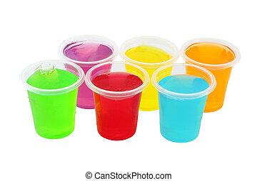 gelado, geléias, múltiplo, cup., plástico
