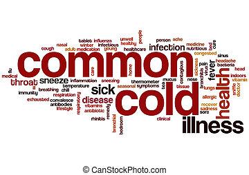gelado, palavra, comum, nuvem