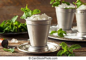 gelado, refrescar, clássicas, hortelã, julep