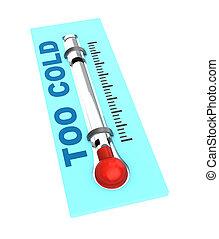 gelado, temperatura, termômetro