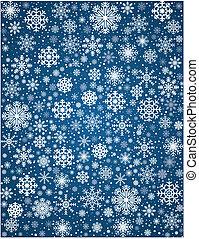 gelado, vetorial, snowflakes, fundo