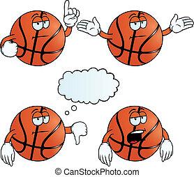 gelangweilte , basketball, satz