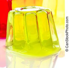gelatina, cores, solto, branca, base