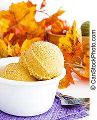 gelato, calabaza