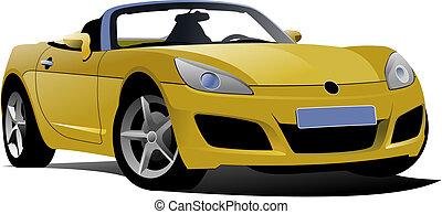 gelber , cabriolet, straße