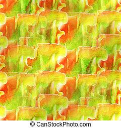 gelber , grün, roter hintergrund, beschaffenheit, aquarell, seamless, abstrakt, muster, farbe, kunst, tapete, farbe papier
