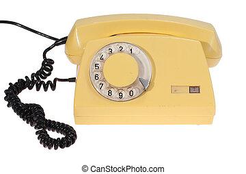 gelber , klassisches telefon
