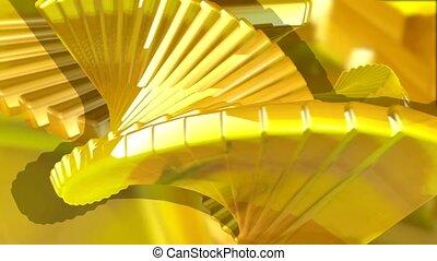 gelber , treppenaufgang